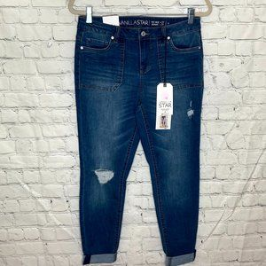 Vanilla Star rolled cuff jeans with patch pockets